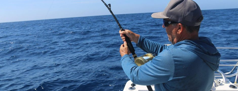 Guy on Marlin in Mag Bay
